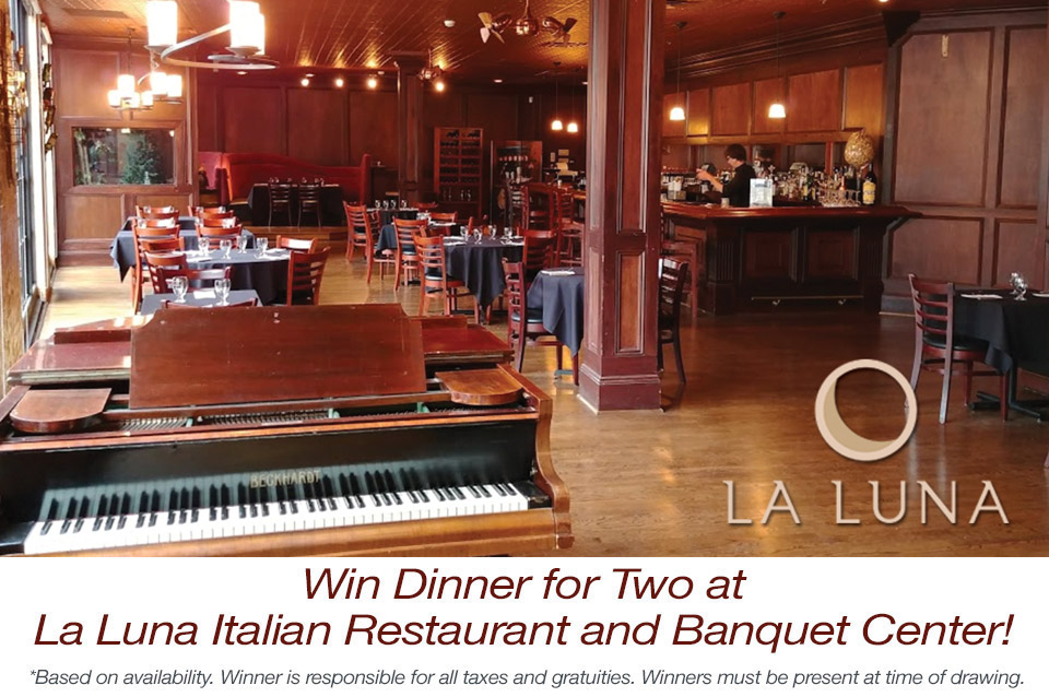 Win Dinner for Two at La Luna Italian Restaurant