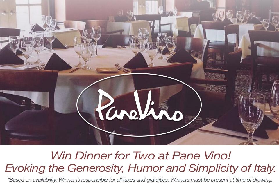 Win Dinner for Two at Pane Vino