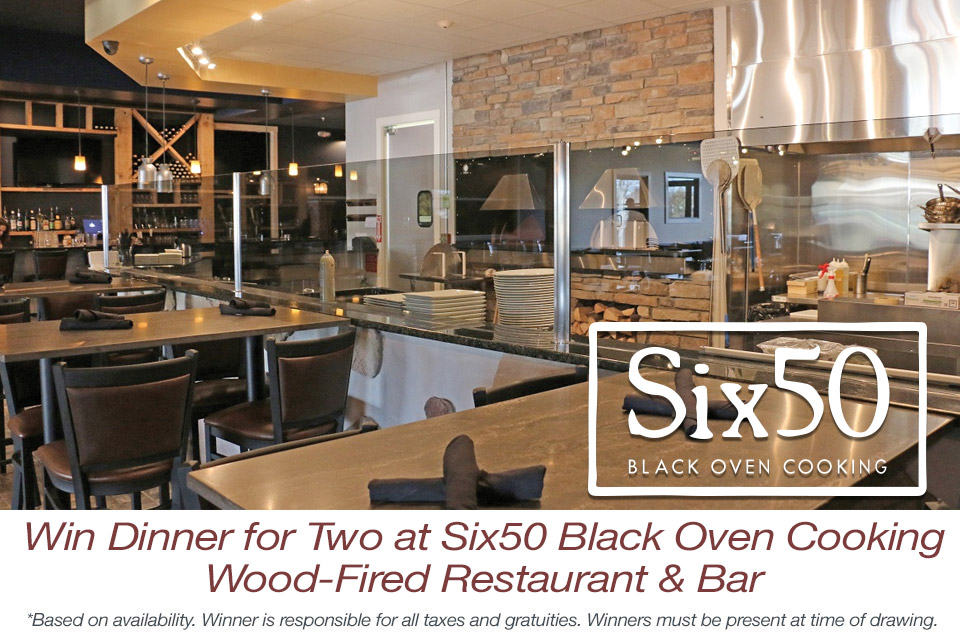 Win Dinner for Two at Six50 Black Oven Cooking Wood-Fired Restaurant & Bar