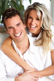 happy young engaged couple
