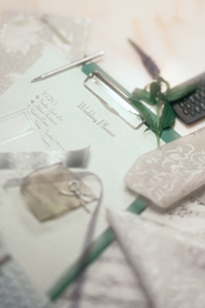 wedding invitations, thank you notes and rsvp