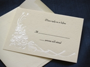 rsvp and reply card
