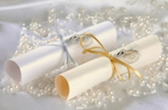 wedding scrolls, invitations