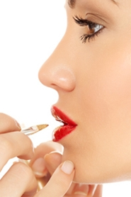 for a more defined mouth, outline your lips with a pencil a shade darker than the lipstick you use