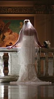 glamorous bride in cathedral