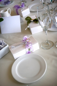 wedding favors and place settings